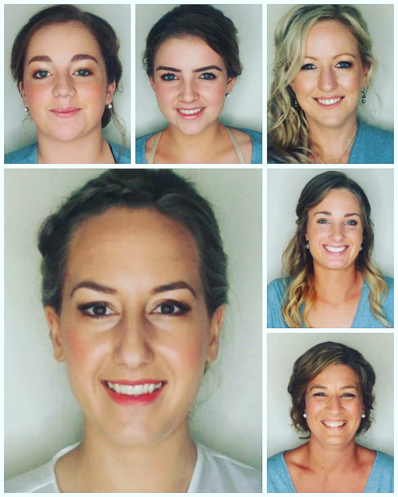 Photo spread of happy makeup clients!